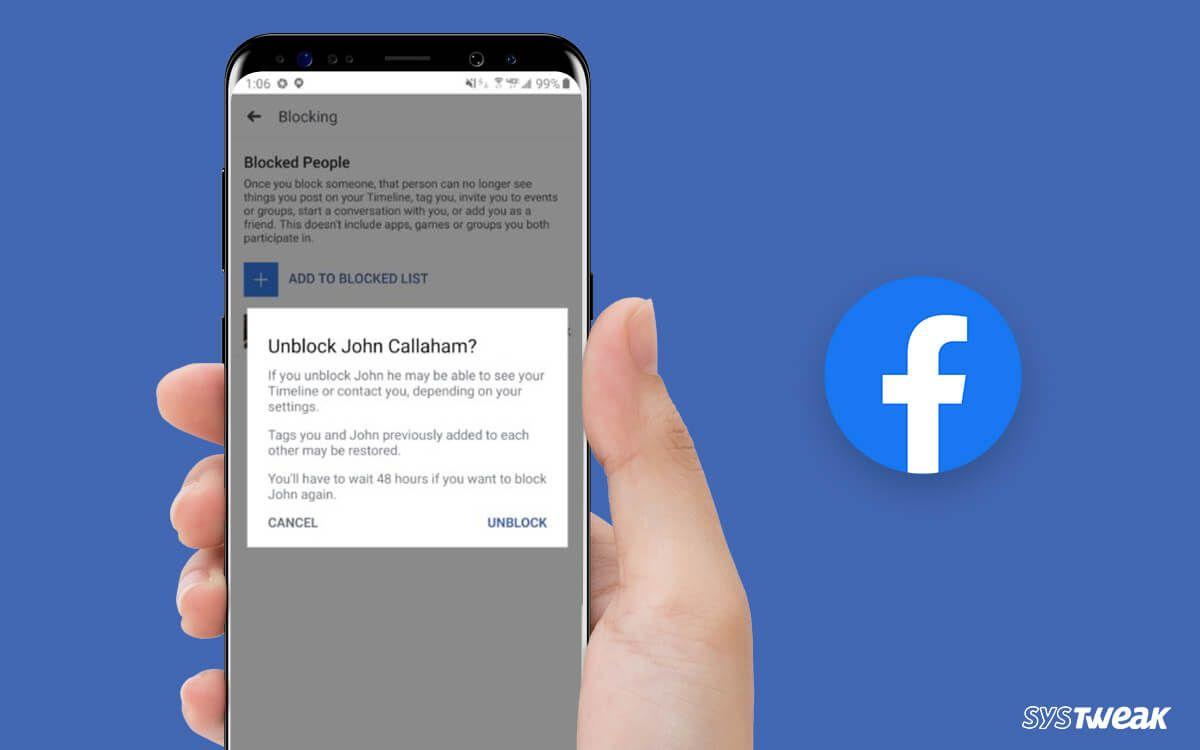 Simple Ways To Unblock Someone On Facebook Samsung Galaxy Phone Simple Way Simple