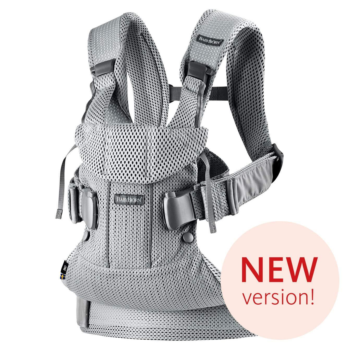 Babybjorn New Baby Carrier One Air 2019 Edition Mesh Silver Hudson Baby Company Ergonomic Baby Carrier Baby Bjorn Carrier Baby Sling Carrier [ 1342 x 1342 Pixel ]