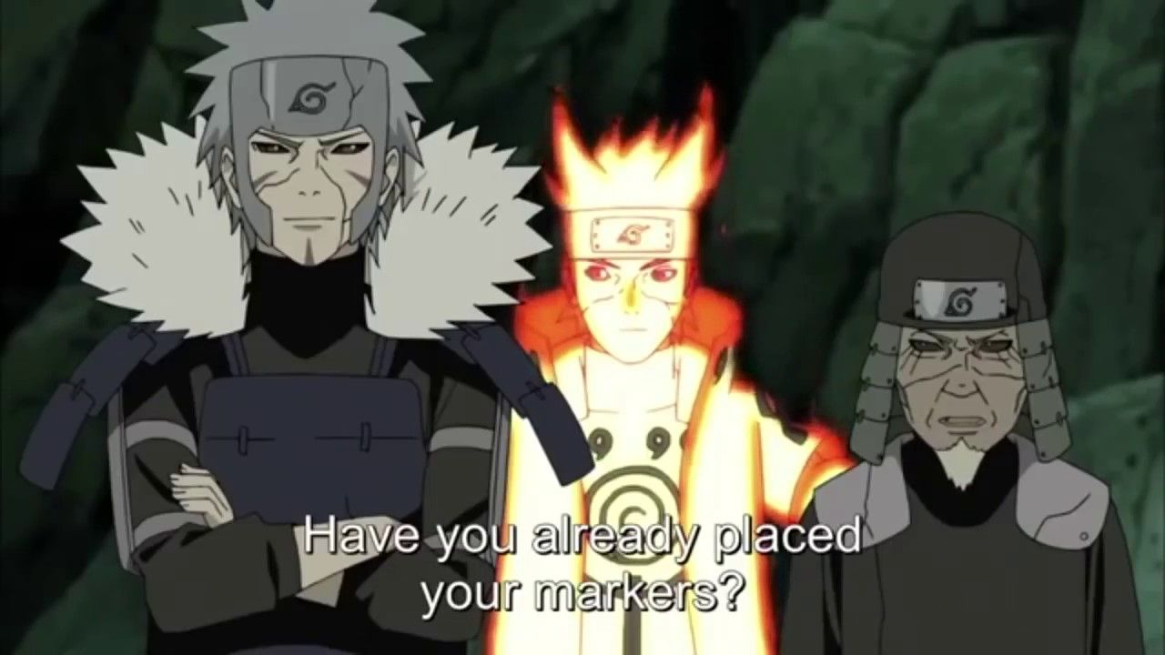 The Hokages Arrive On The Battlefield And Team 7 Reunites HD