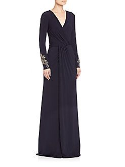 a7ac1b9ed87 David Meister - Draped Jersey Gown David Meister, Dressmaking, Lace Dress,  Gowns,