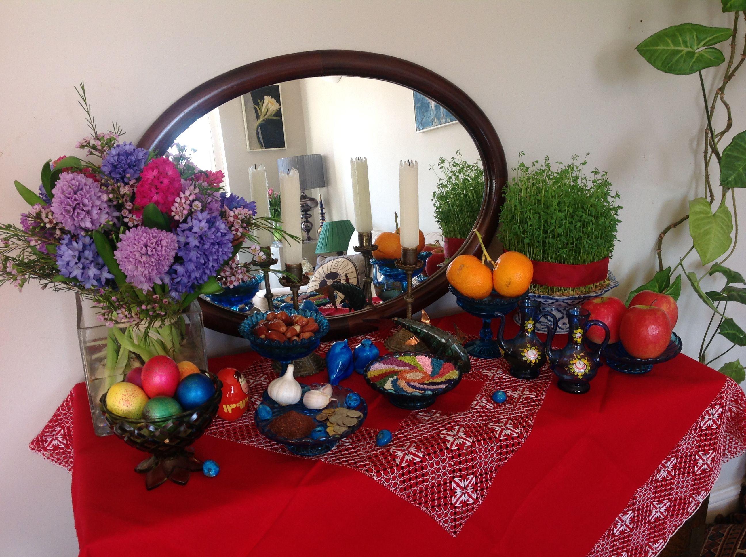 Persian New Year - Norouz 1393, table Decoration | Norooz, Haft ...
