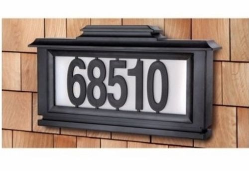 Solar Address Light House Number Sign Led Outdoor Lighting Plaque Address Plaque Solar Powered Lights Solar House Numbers