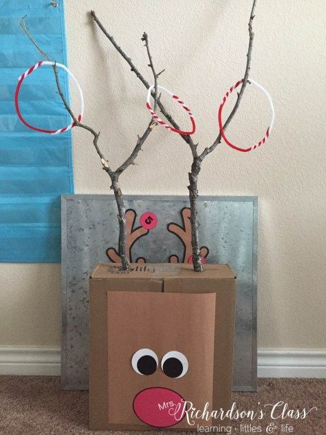 Reindeer Ring Toss- great for a winter party! Christmas Party
