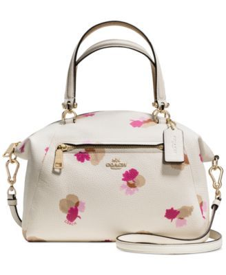 d56bb19a8930 COACH PRAIRIE SATCHEL IN FLORAL PRINT LEATHER - Handbags   Accessories -  Macy s