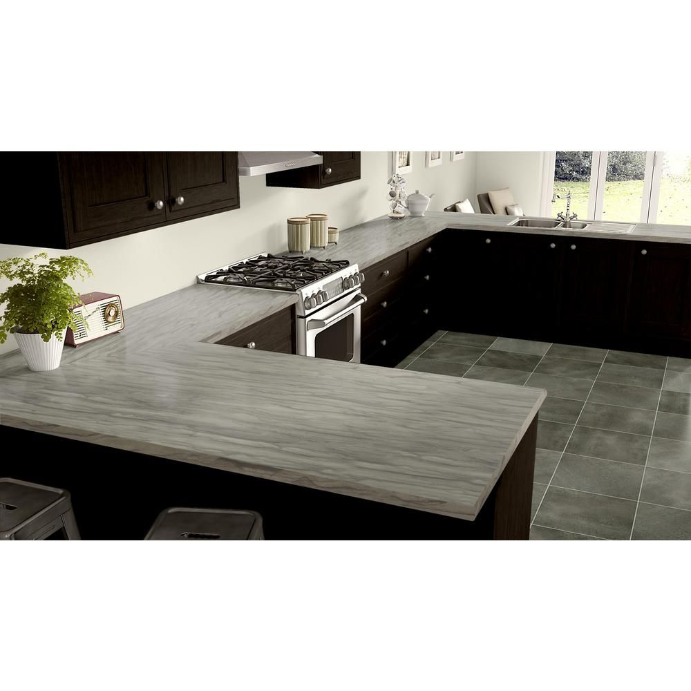 Wilsonart 5 Ft X 12 Ft Laminate Sheet In Oyster Sequoia Premium Textured Gloss 5002k735060144 The Home Depot Laminate Kitchen White Laminate Countertops Laminate Countertops