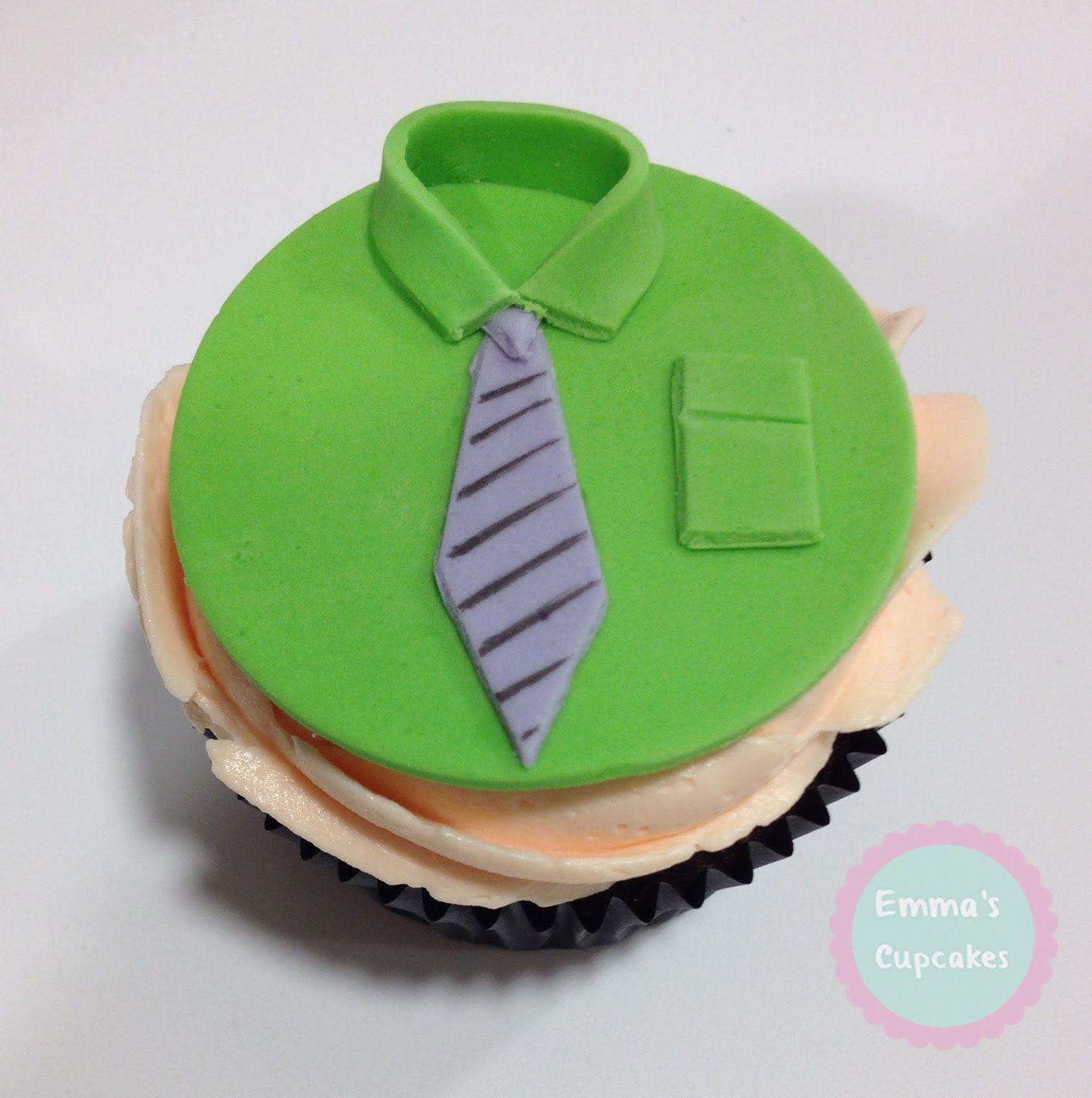 Emma's Cupcakes: Tutorial Camisa con Fondant (Día del Padre) - Father's Day Tutorial