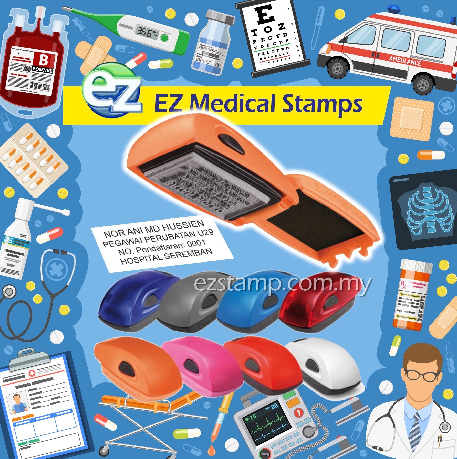 Ez Stamp Cop Utk Pegawai Perubatan Nurses Doctor Di Malaysia Kami Ada Pelbagai Pilihan Design Utk Dipilih S Nurse Self Inking Stamps Healthcare Provider