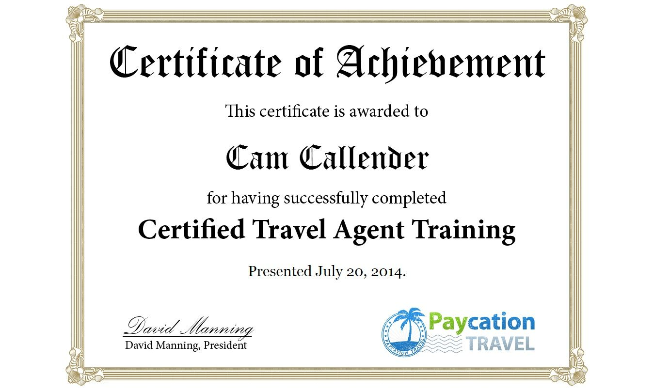 My Travel Agent Certification Travel Packages Pinterest