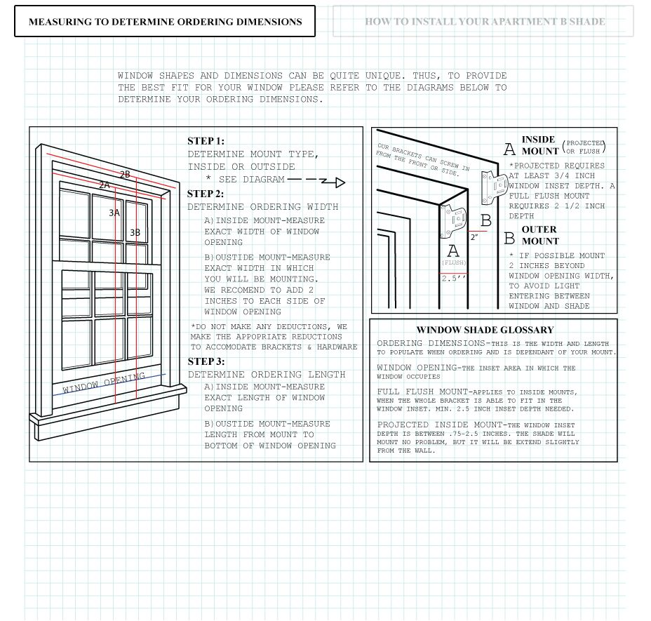 Apartment b measuring and installing instructions