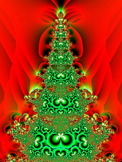 Merry Christmas Art Cuttable Designs  Merry Christmas Fractal Art