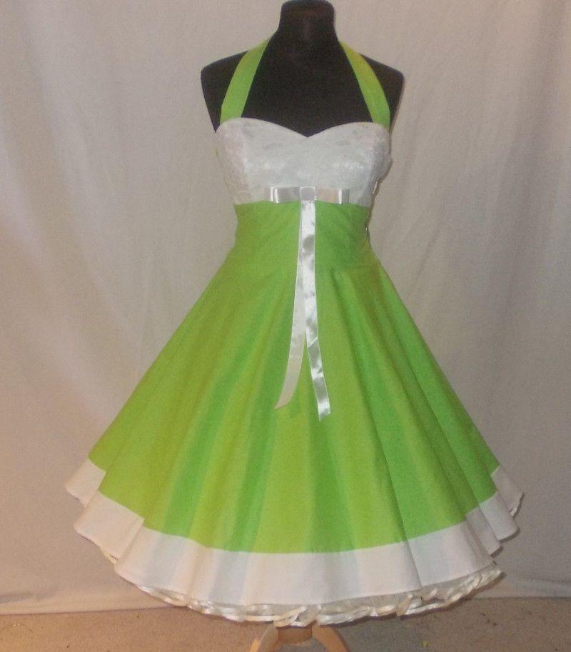 Rockabilly kleid grun weib