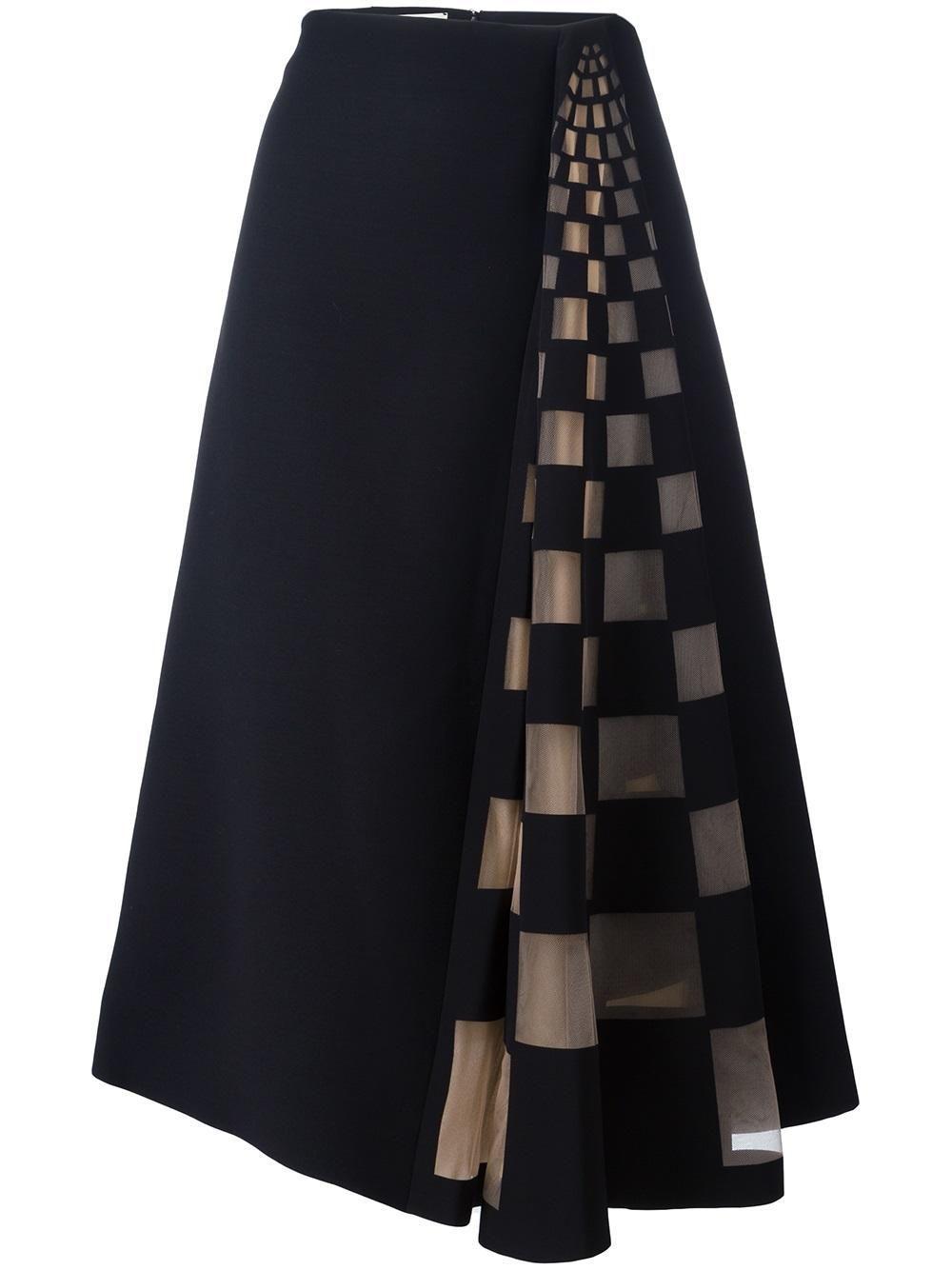 Fendi tulle check insert skirt, #check #Fendi #insert #Skirt