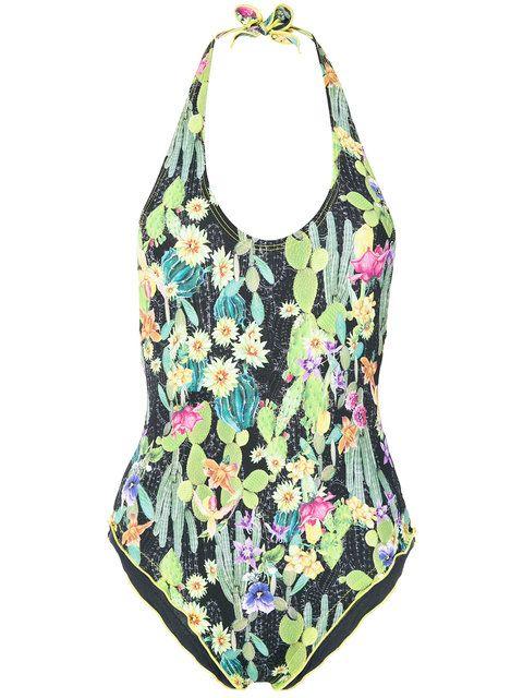 693911f0667eb ERMANNO SCERVINO Cactus Print Swimsuit. #ermannoscervino #cloth #swimsuit