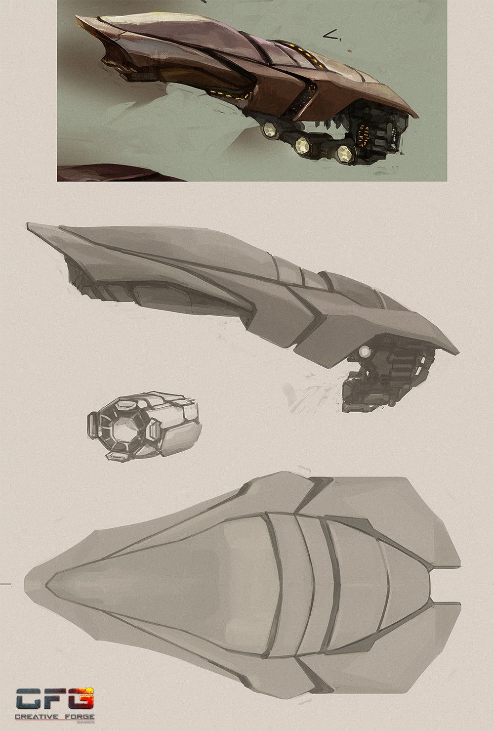 Artstation Alien Spaceship Concept Art Of Ancient Space 003