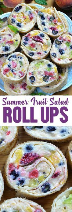 Cheesecake Fruit Salad Roll Ups