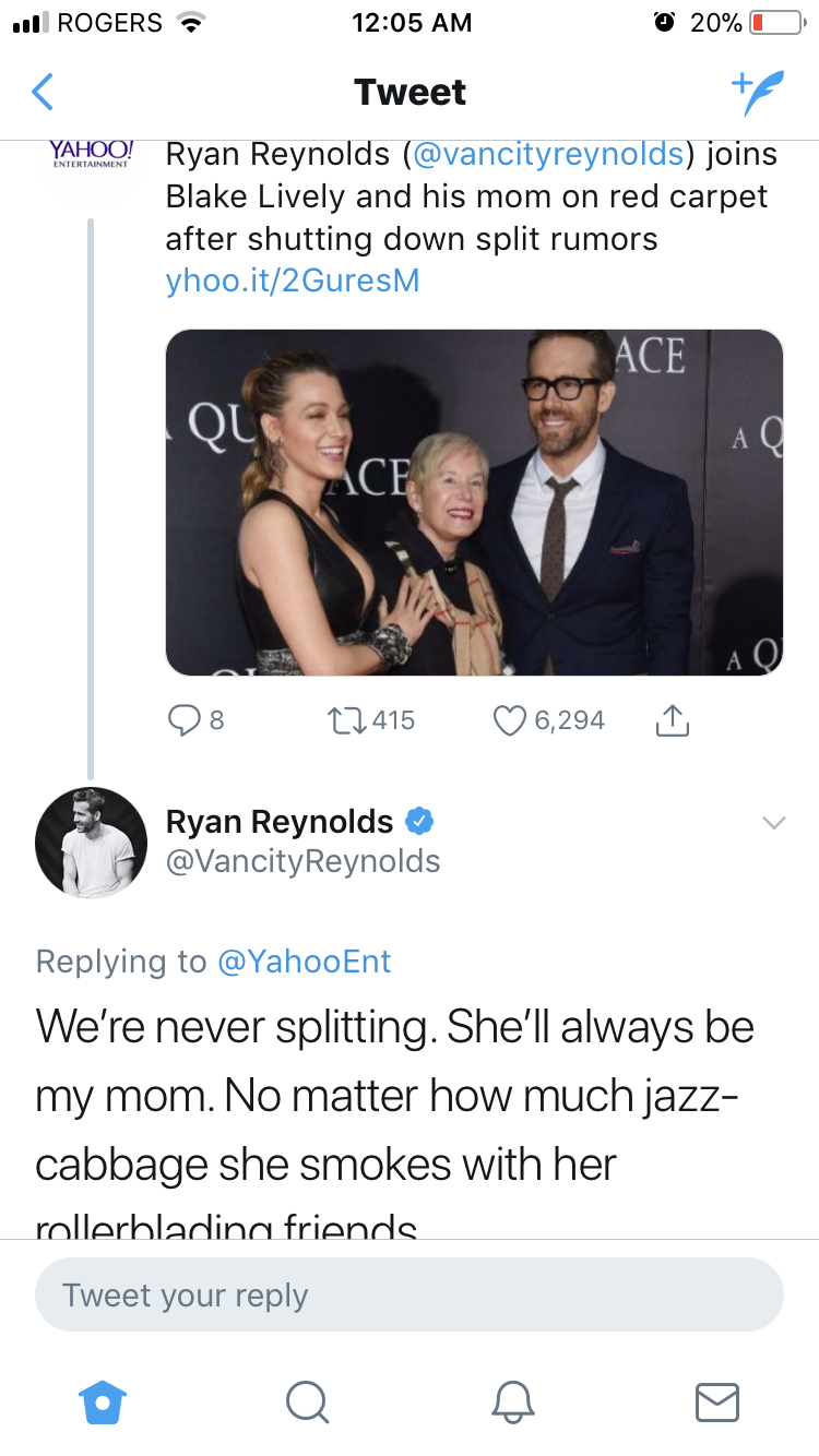 Never change Ryan Reynolds. Never change. (With images