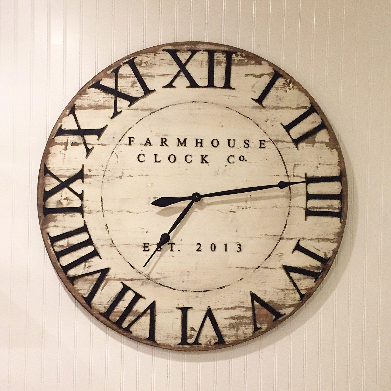 horloge en bois de 30 40 pouces extra large chiffre romain horloge pinterest horloge en. Black Bedroom Furniture Sets. Home Design Ideas