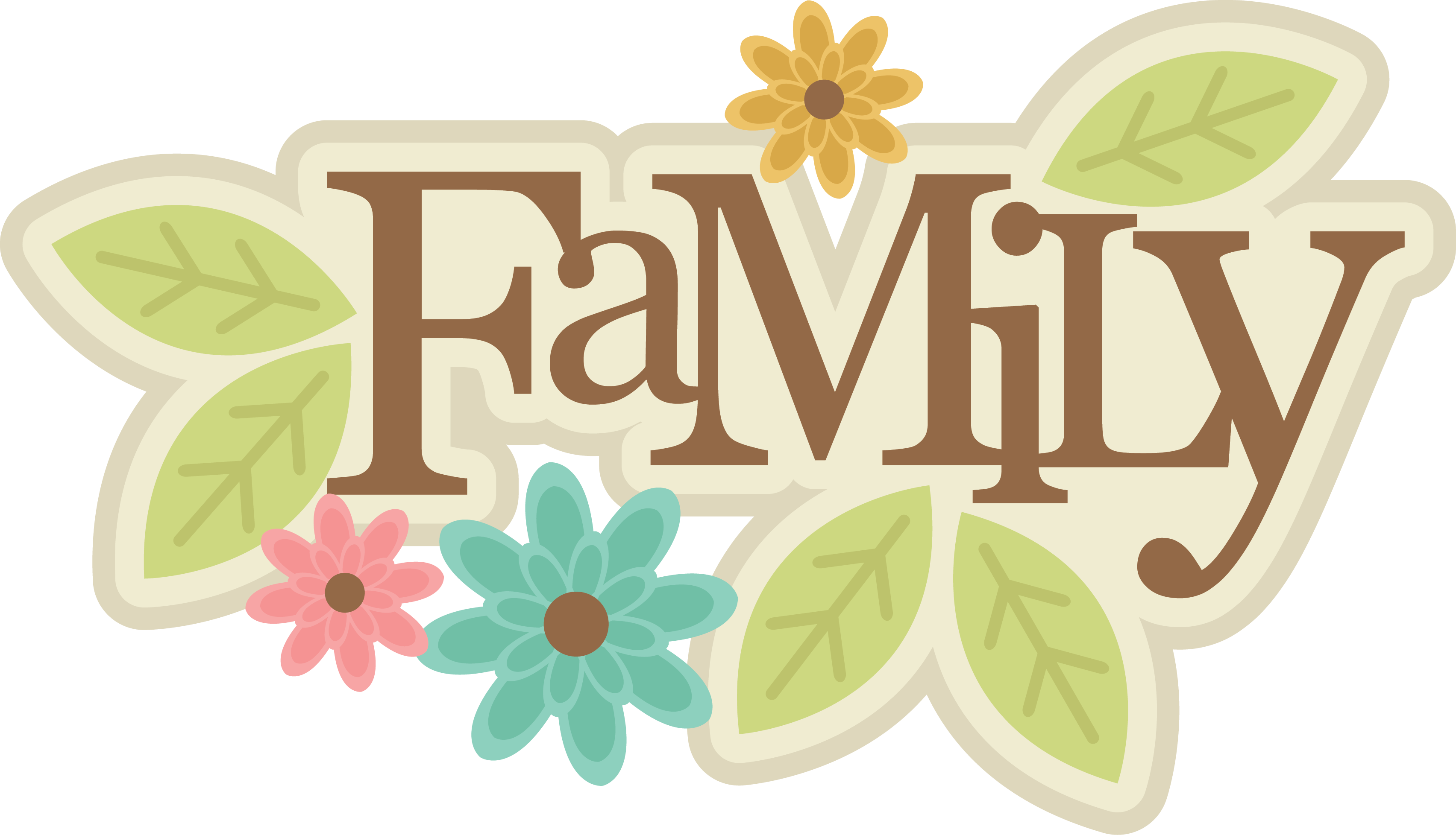 MKC_Family Title SVG   Scrapbook titles, Family clipart ...