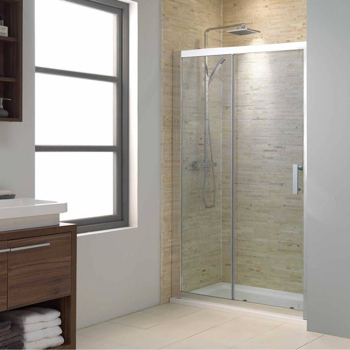 V8 Framed Sliding Shower Door 1200 Sliding Shower Door Bathroom Design Decor Shower Doors