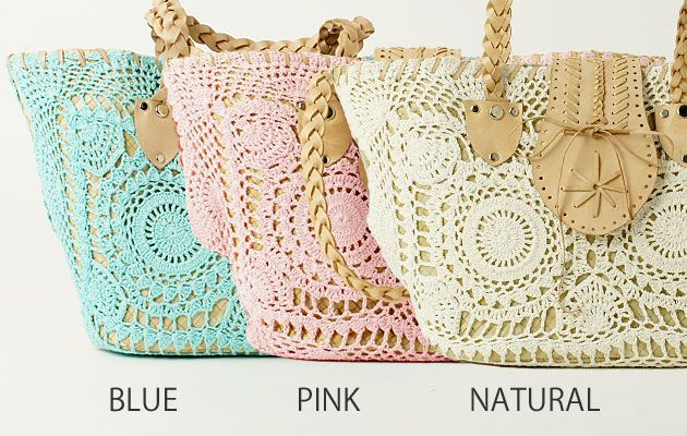 Bolsa - boa idéia. bolsa playa adornada crochet