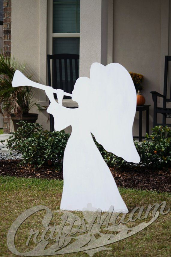 Angel Yard Sign Wooden Yard Sign Outdoor Christmas Decoration