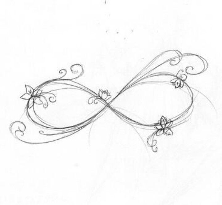 pin by shelby glenn on art and drawing infinity tattoos. Black Bedroom Furniture Sets. Home Design Ideas