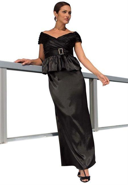 Black Evening Dresses Cheap Long Plus Size