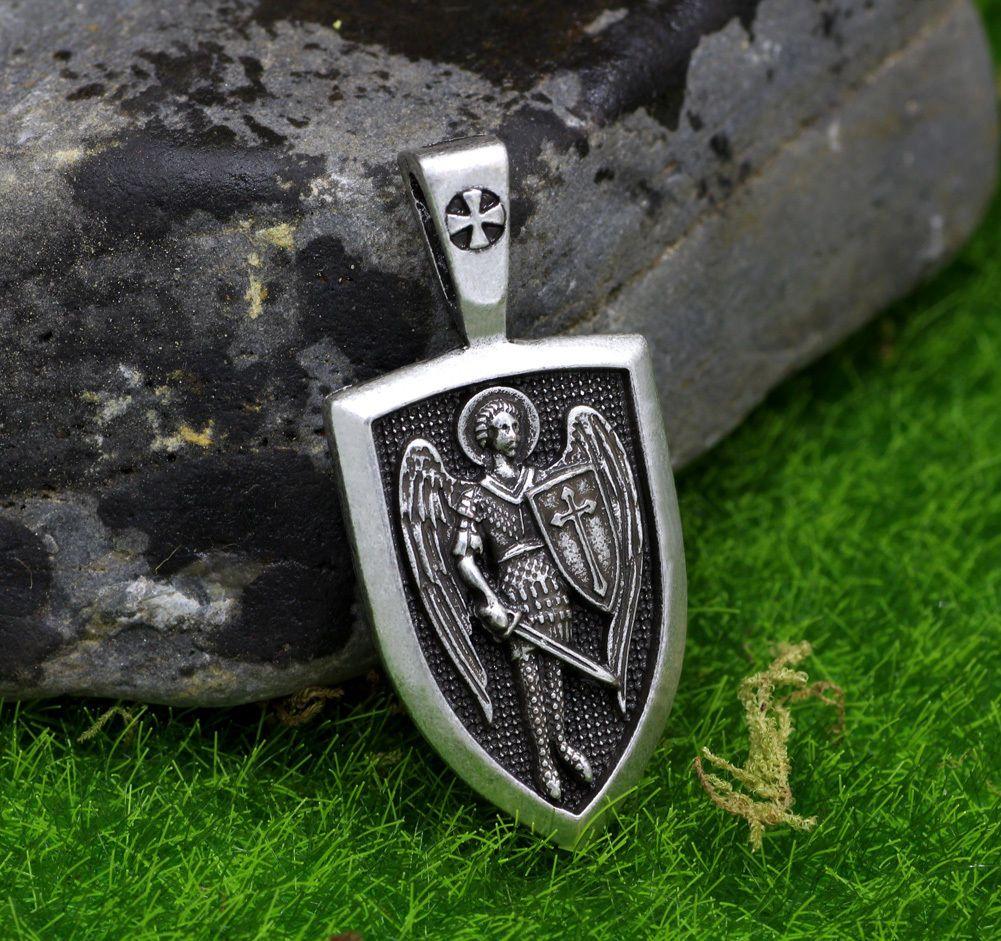 Archangel pendant archangel stmichael protect russian orhodox archangel pendant archangel stmichael protect russian orhodox pendant necklace aloadofball Gallery