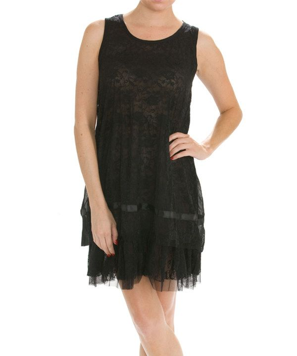 Look at this Black Lace Shift Dress on #zulily today!