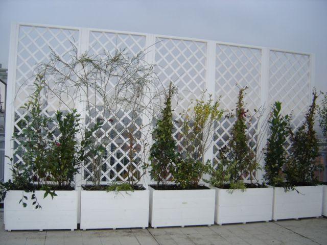 Grigliati legno terrazzo cerca con google garden for Fioriere in legno obi