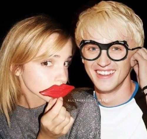 Emma Watson and Tom Felton. Draco and Hermione