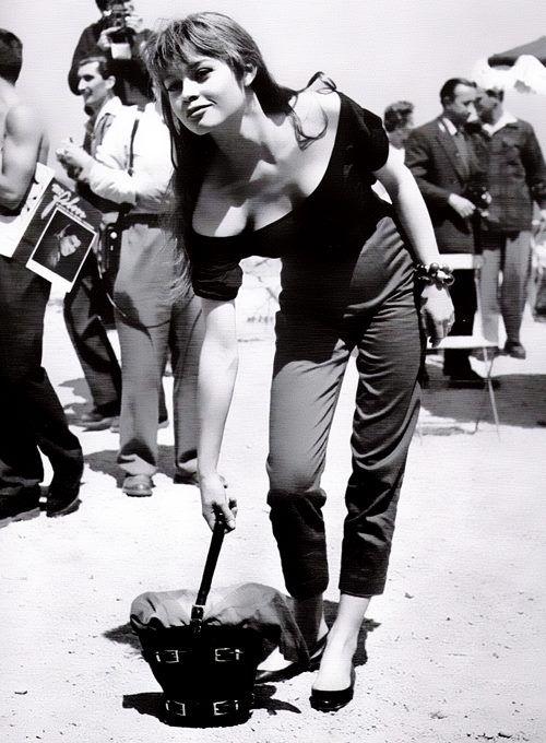 Brigitte Bardot -  cigarrette pants 1966