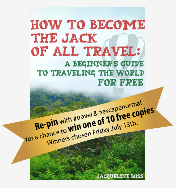 Giveaway: 10 Free eBook! Just re-pin to enter. :) #travel #escapenormal