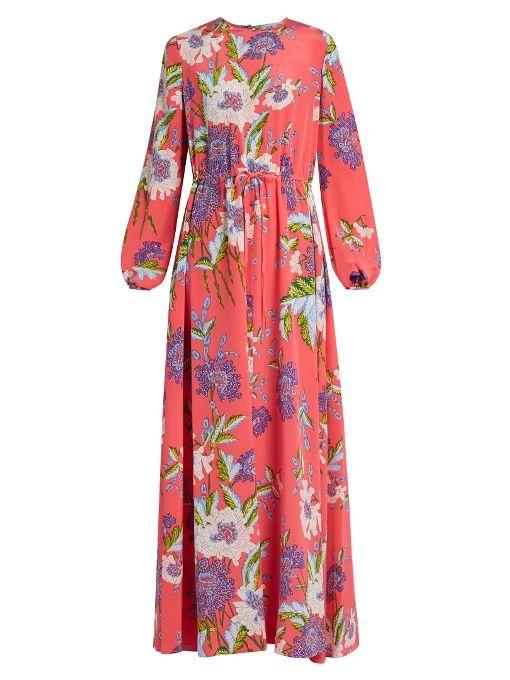 461170ed Diane Von Furstenberg Floral-print silk maxi dress   Port d'Alon ...