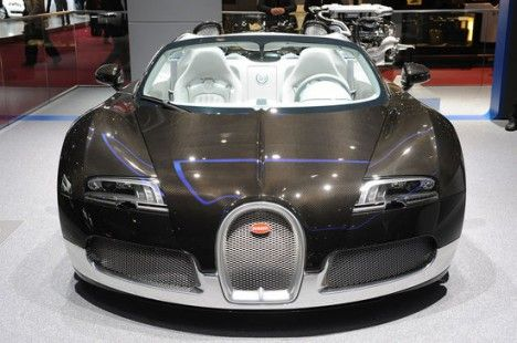 bugatti veyron grand sport grey and blue carbon | awesomepeople 12