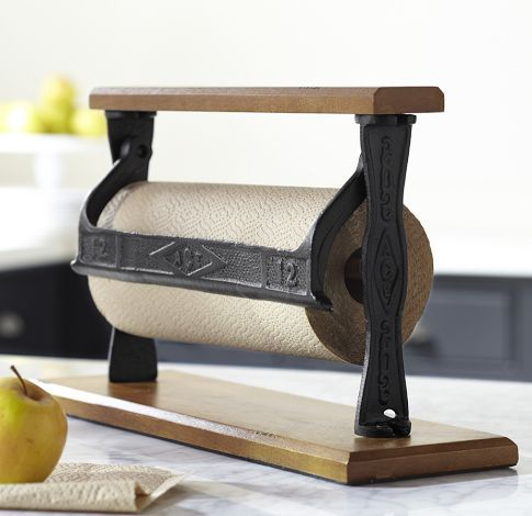 Cuisine Paper Towel Holder Pottery Barn Reminds Me Of The Roll Brown Packaging From Work Need This For Freezer