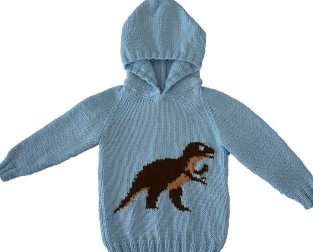 eeb1f21f4c85df Dinosaur Hoodie Triceratops Knit t Knitting patterns