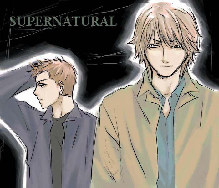 Sam And Dean Supernatural Anime Style Drawings Supernatural Dean