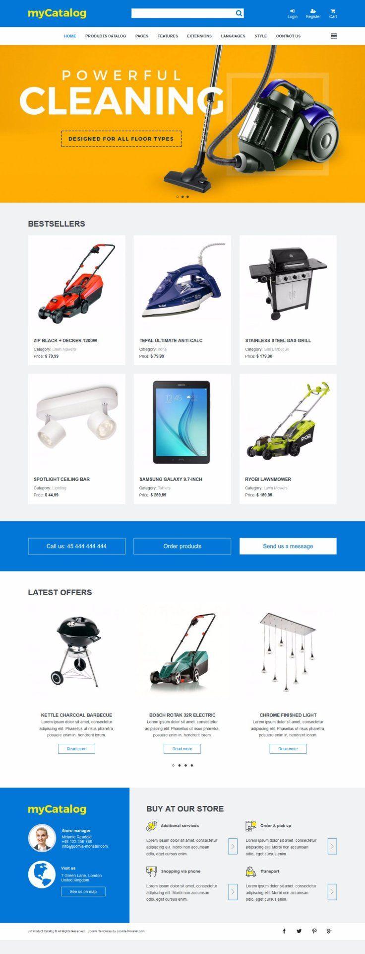 JM Product Catalog Joomla Template https