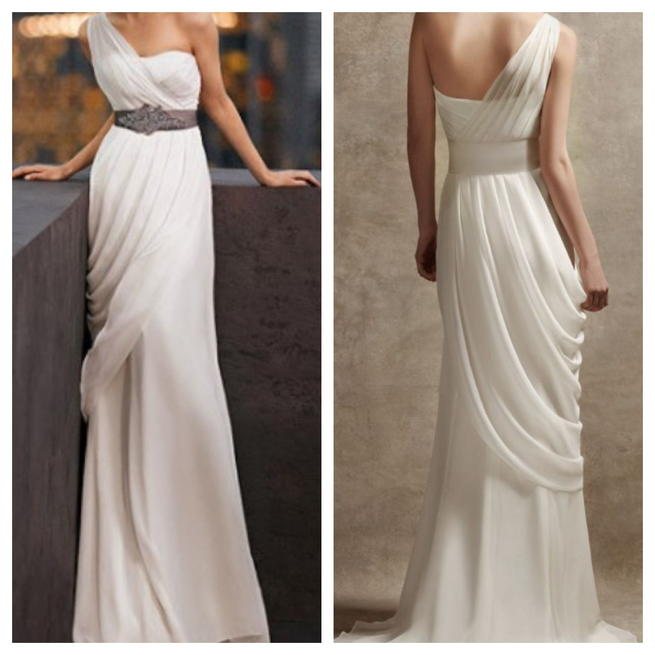 Here\'s another similar greek gown, I prefer the one shoulder look ...