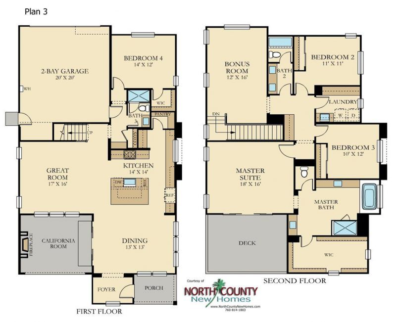 Cavalli At Harmony Grove Village San Diego North County New Homes Floor Plans New Homes Castle Plans