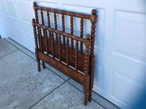 Vintage Jenny Lind Solid Wood Twin Bed Frame Spool Spindle Wood Twin Bed Twin Beds For Sale Twin Bed Frame