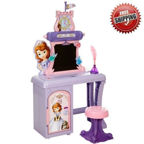 Disney Princess Sofia The First Royal Prep Talking School Desk Chair And Mirror For The Kids