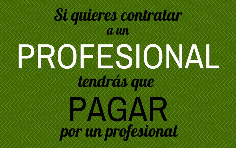 contratar a un profesional