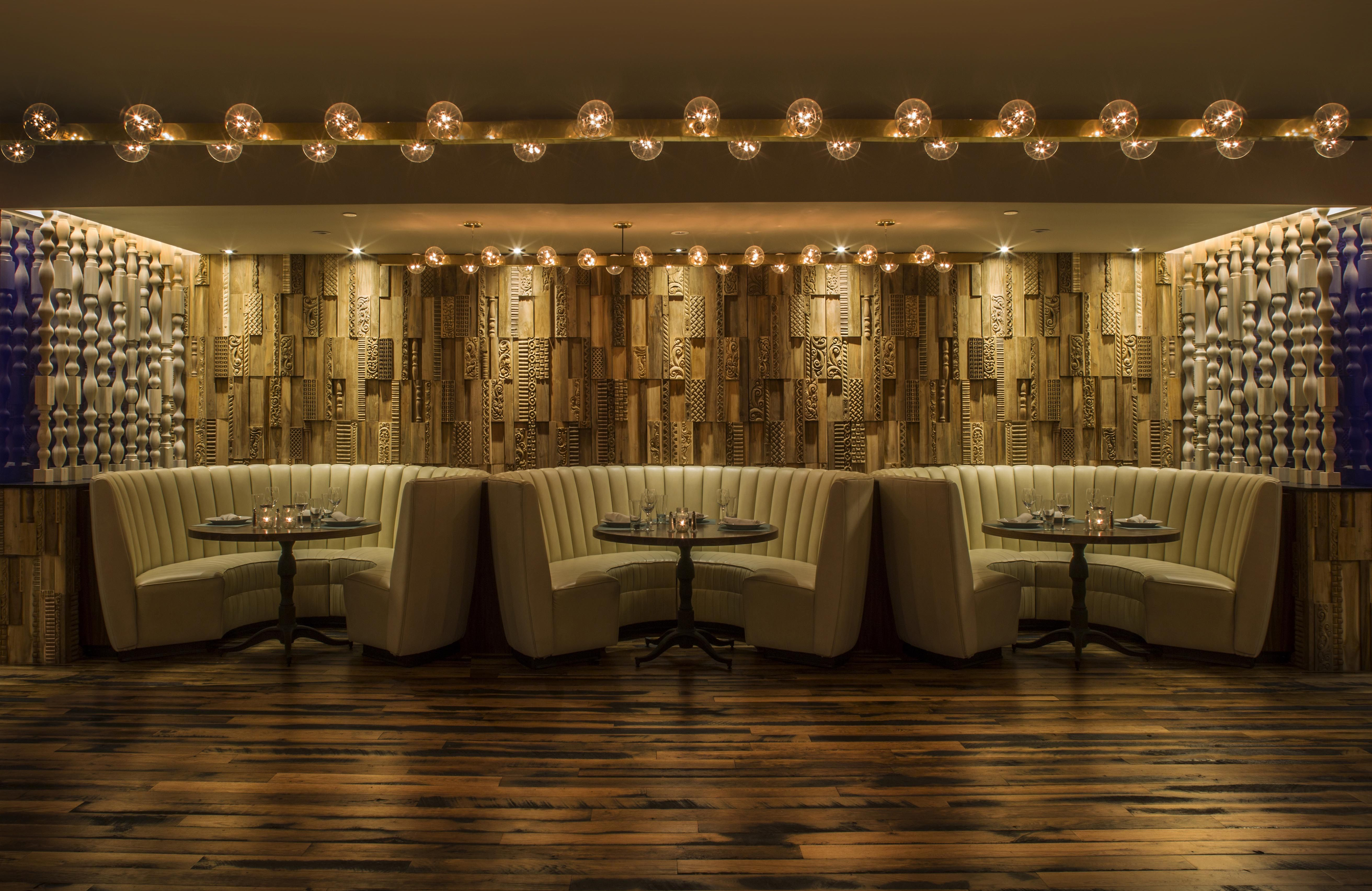 Eclectic vibes with our handcarved phoenix panels at the hard rock hotel palm springs one of our signature projects after a killing production schedule