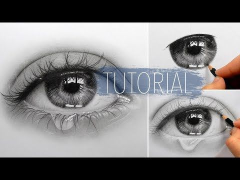 Timelapse | Drawing, shading a realistic eye and teardrop with graphite pencils | Emmy Kalia - YouTube