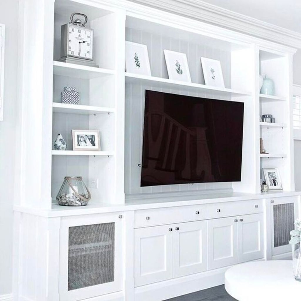 40 Cozy Entertainment Centers Design Ideas You Must Try Built In Tv Cabinet Living Room Built Ins Living Room Entertainment