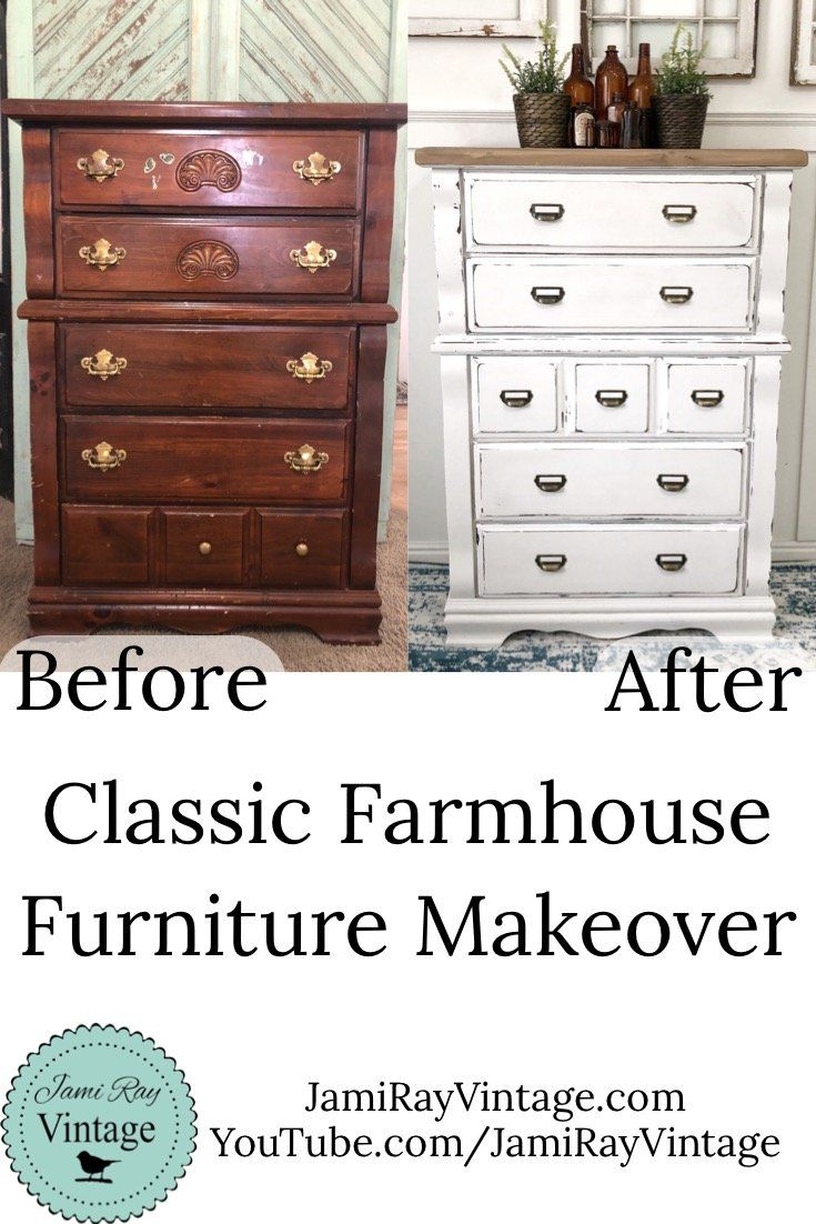 I Love A Good Before And After We Transformed This Dresser Live On Youtube On February 13th S In 2020 Farmhouse Furniture Diy Farmhouse Furniture Diy Furniture Redo