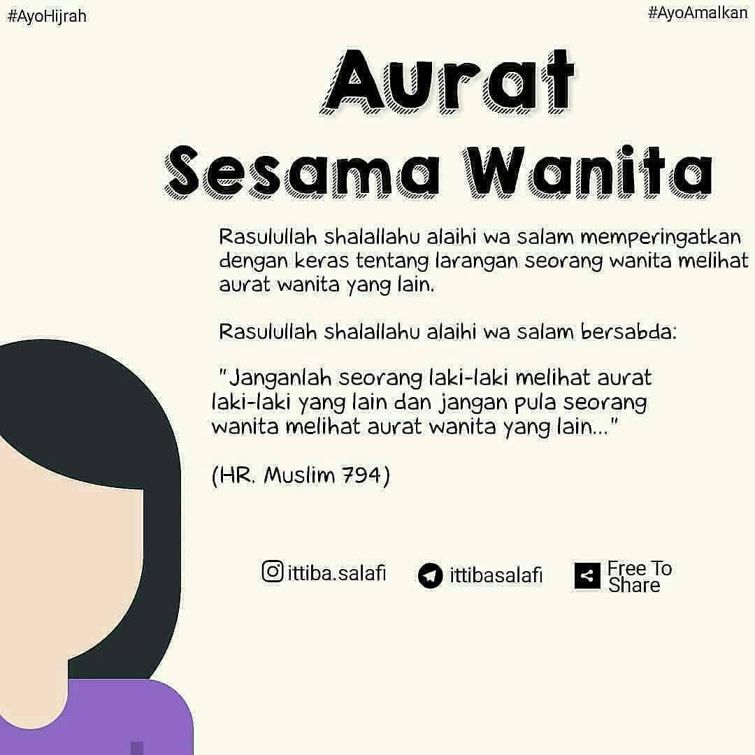 Fakta Agama Islam Di Instagram Aurat Sesama Wanita Banyak Saudari Saudari Kita Wanita Muslimah Yan Islamic Quotes Kata Kata Motivasi Kutipan Pelajaran Hidup