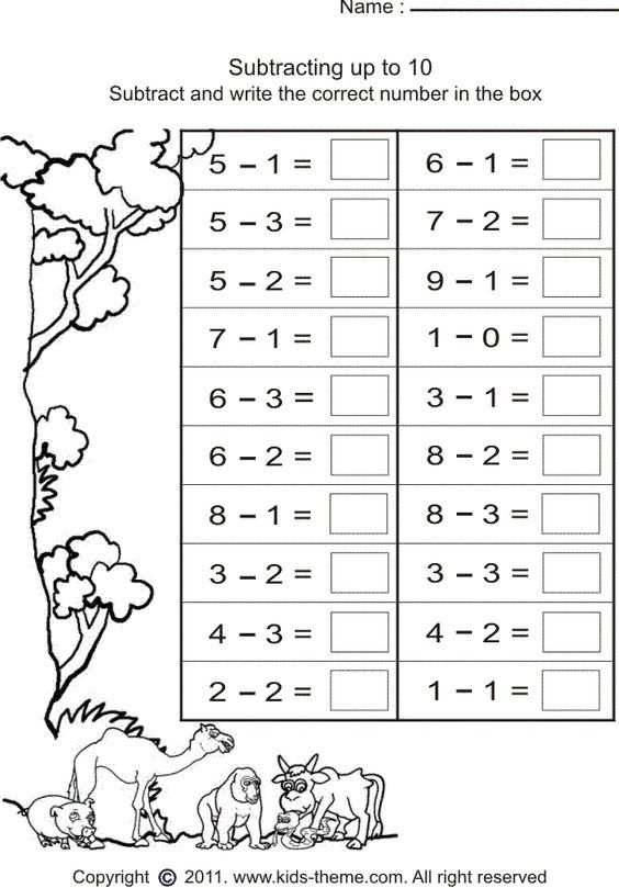 subtract numbers and write answer | Sınıf | Pinterest | Mathe ...